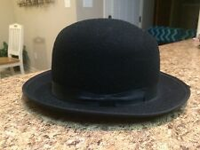 """Vtg 1960's Peters Bros. 100% Wool Derby Hat TEXAS HAT Ft. Worth Small 6 1/4"""" VGC"""