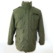 VINTAGE ORIGINAL US ARMY M-65 M65 FIELD COAT JACKET  WITH LINER 1981 SMALL ALPHA