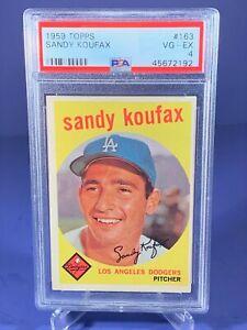 1959 Topps SANDY KOUFAX #163 PSA 4 VG-EX Dodgers