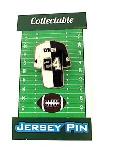 Oakland Raiders Marshawn Lynch jersey lapel pin-BLACK HOLE Classic Collectible