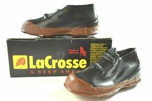 New Vintage LaCrosse Men's Kansas 2 Buckle Rubber Overshoe Black Pick Size