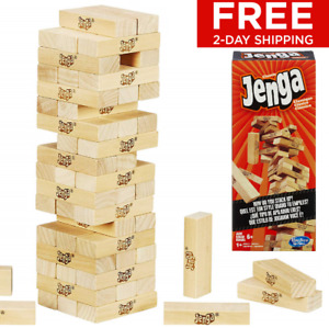 Jenga Game Small Yard Classic Wood Block Tower Picnic Party Official Family Fun