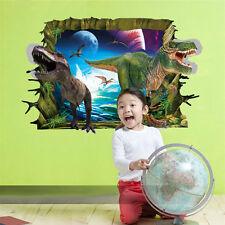3d Jurassic World Park Dinosaur Wall Sticker Kids Room Decal Mural Home Decor #3