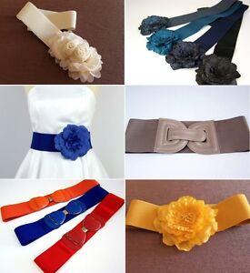 Gürtel für Damen Stretch Taillengürtel Gummi Blume vintage Damengürtel Farben