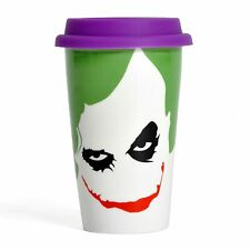 Official DARK KNIGHT TRILOGY Joker 12oz. Boxed Ceramic Travel Mug NEW & IN STOCK