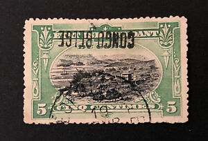 Agrome CONGO BELGIAN 1908 Yvert # 30 Used VARIETY INVERTED OVERPRINT (3196