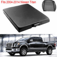 Leather Center Console Lid Armrest Cover Black For 2004-2014 Nissan Titan