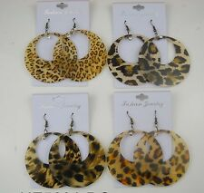 fashion jewelry lot 6 pcs animal print drop/dangle earring  wholesale lot #11