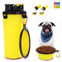 Comedero Bebedero para Perros Gatos Accesorios de Viaje Portatil Alimentador