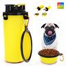 Comedero Bebedero 2 en 1 Mascotas Perro Gato Viaje Portatil Alimentador Portátil
