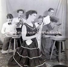 B/W 6x6 Negative x5 1950s 1960s Comedy Band Back Garden Bangers play? c/20