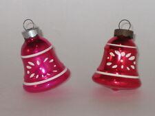 USA Shiny Brite Bells Antique Christmas Ornament Vintage Decorations 1950's
