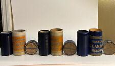 Edison blue amberol cylinders set Of 3