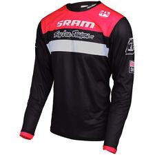 Troy Lee Designs TLD Men's MTB Downhill Cycling Sprint Jersey SRAM Black Medium