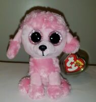 "Ty Beanie Boos PRINCESS the Poodle Dog 6"" Glitter/Sparkle Eyes MINT w/ MINT TAG"