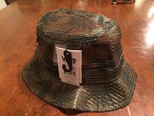 VANS NWTs Bucket Mesh Hat w/ Palms Green Camo Beach Summer Sm/Md