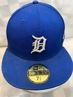 Detroit TIGERS New Era Blue Fitted 7 1/2 Adult Baseball Ball Cap Hat