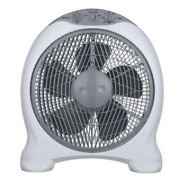 CFG Ventilatore a Mobiletto BIANCO 30 BOX 3 Velocità EV076 Tavolo da Appoggio