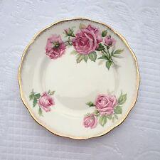 14 Royal Standard 'ORLEANS ROSE' 6 1/4 inch plate Pink Roses/Gold Trim (304)
