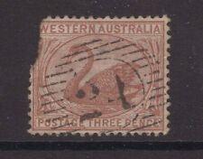 Western Australia numeral cancel 24 on 3d swan issue