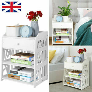 Bedside Tables Cabinet Drawer Night Stand Storage Furniture Shelf Cupboard UK