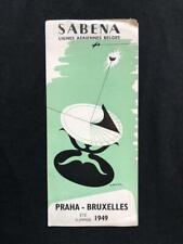 SABENA AIRLINES Original TIMETABLE SCHEDULE BROCHURE BOOK, 1949 M Anciaux