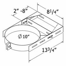 Brand New! Cheap! Shasta Vent 8A-Wb Wall Bracket For Chimney In An Open Box!