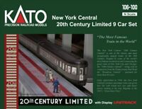 KATO 106100 N New York Central 20th Century Limited 9 Car Set 106-100  UNITRACK