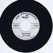 VINCE EVERETT - BOX OF CANDY / I'M SNOWED - '50s ROCKABILLY JIVER & STROLL (hear