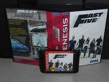 Fast Five (Fast and Furious) for Sega Genesis! Cart and Box