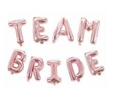 "Shiny 16"" Foil Balloons 'TEAM BRIDE' Rose Gold Letter Wedding Bridal Hen Party"