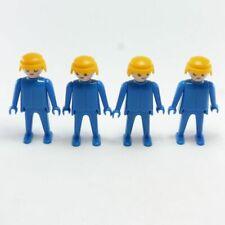 10376 Playmobil Lot de 4 Hommes Bleus Vintage 3241 3314 3234 3207 3271 3323 3400