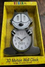 Felix the Cat Animated Wall Clock, Motion Eyes &Tail + Authenticity Certificate