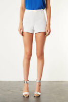 Topshop White Lace High Waisted Floral Flower Daisy Shorts UK 16 BNWT RRP £32