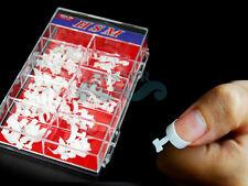 S72A-100 White False French Nail Tips Acrylic DIY Nail Art