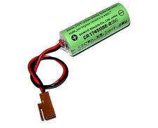 One Sanyo Battery 3V 2200mAh CR17450SE-R to PLC power backup supply w/2P Plug US