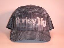 NEW Hurley Hat Mic S/M Flexfit Grey Blue Plaid ($30) One Only Flex Skate Rico