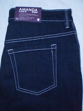 Gloria Vanderbilt Amanda Stretch Denim Jeans Size 10, 12 | L31 Rinse Wash New