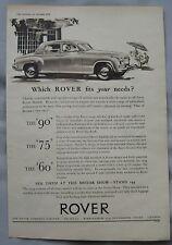 1954 Rover Original advert No.1