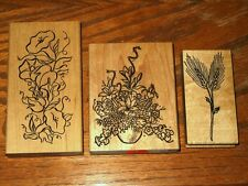 3 Stamps- Large Scroll Flowers, Me & Carrie Lou, DelRose Flowers
