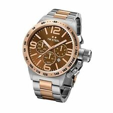 TW Steel CB154 Mens Stainless Steel Canteen Bracelet Brown Dial Two-tone Watch
