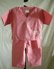 Nurse In Training Scrubs By Sweet Surprises, 12 Months, Pink, 2 Piece Set, New