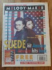 Melody Maker newspaper June 19th 1993 suede cover hit America