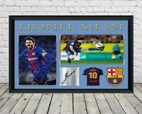Lionel Messi Signed Photo Print Poster Football Memorabilia