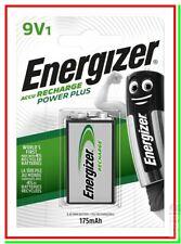 ENERGIZER Ricaricabile 9v 9 v VOLT 9volt Batteria Pila TRANSISTOR BLOCK HR22