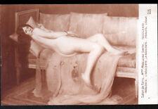 "ART PEINTURE / FEMME sur DIVAN ""NU"" INDOLENTE par Mme Madeleine SMITH"
