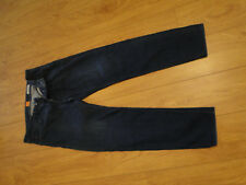 Mens HUGO BOSS ORANGE  Stretch Tapered Fit Blue Jeans W34 L34