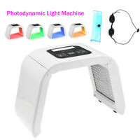 4 Colors LED Photon Light Facial & Neck Mask Photodynamic PDT Skin Rejuvenation