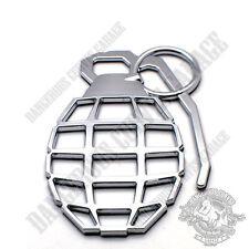 1 3D Chrome Grenade Self Adhesive Emblem Badge 3 D Decal Car Truck Motorcycle RV