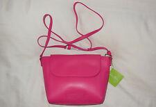 NWT Vera Bradley Faux Leather FLAP CROSSBODY in ROUGE purse 14320-333